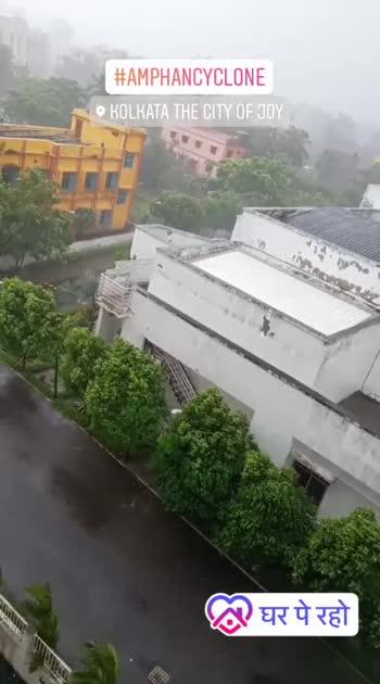 Amphan Cyclone landfall.  #cyclone #amphan #powerful #kolkatadiaries