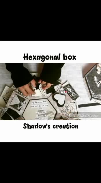Hexagonal explosion box💝 PART1  https://instagram.com/handmade__creation?igshid=1j9q1id372mbs #handmade #birthdayGifts #keepgifting #anniversaryGift #specialgifts #shadow'screation #explosionbox #customized