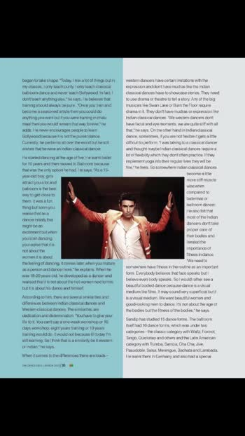 "🕺🏻🕺🏻🕺🏻 ... The prestigious .... ""The Dance India Magazine - A treasure trove of culture and tourism"".. carries a detailed 8 page story on my dancing work.. 🙏🙏🌷🙏🙏.. A huge thank u to Sir @vikramkumarbr  @trivedi_kashmira ... for making a part of the Magazine.. 🙏🙏🌷🙏🙏 🌹🕺🏻🌹.. Tight hugs to @allylovesgym for posing with me... @taher_basrai for the amazing pics.. #danceindia #danceindiamagazine #dancer #dancersofinstagram #magazine #dancenews #ballroomdance #ballroomdancing #ballroomdancer #latindance #latindancing #latindancer #danceteacher #dancephotography #dancelover #sandipsoparrkar #learntodance #coupledance #danceclass #india #pose #story #dancestudio #dancesteps #dancedance"