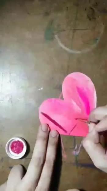 DIY Love Badge using Acrylic paints #creativeminds #acrylicpainting