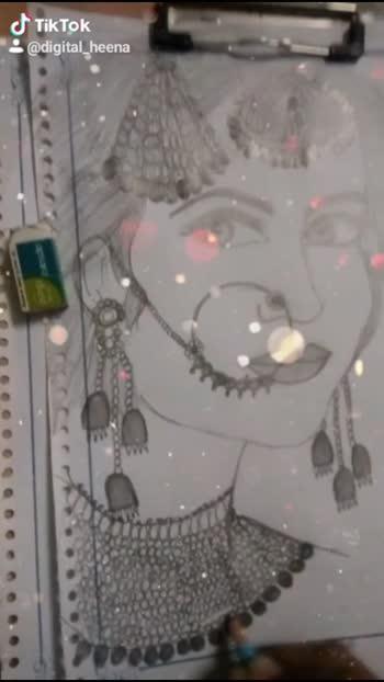 #bridaljewellery #bridalmakeup #bridesofindia #creativespacechannel #creativespace #drawingbyme #drawingchallenge
