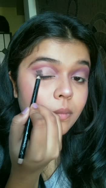 Pastel Eye look 💙🧡🌸 #makeup #makeuptutorial