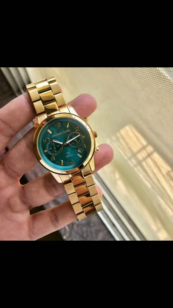 ❤️ *Michael Kors 100 Series* ❤️   * Michael Kors * For her * 7A * Original model 100 Series * Feature- -Round case -working chronograph Green Dail -12 hr dial analog -Fully metal  -Hi tech metal scratch resistant chain -Original Quartz Machinery  *With Brand Box 📦 *  *Available @ ₹3150/- Free Shipping* LF