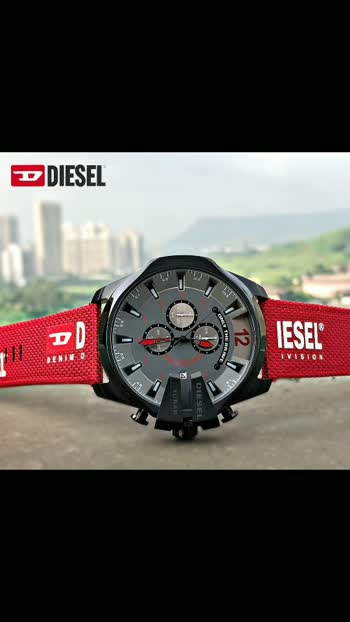 *This 51mm Mega Chief watch features a grey dial with red needle indexes, chronograph movement and red nylon and silicone strap with black and red Diesel logo detail.*❣❣   * Diesel  * 10 Bar * Dz-4512 * For men * 7A  * Original model * Feature; -Case size-51 mm -Case shape- Round -Band material-Nylon,silicone -Display- Analog -Chrono- Working, -Date working -12 hr dial -Analog  -Stainless steel case  ⭐** Price - Rs-1600/-Plus  shipping **⭐  **With Normal Box 📦 ** Lm