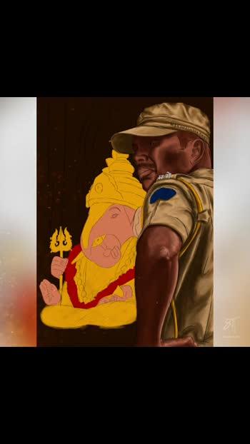 'सदरक्षणाय खलनिग्रहणाय' Video of Maharashtra Police Real Warrior - Digital Painting🙏🙏 #digitalart #digitalpainting #maharashtrapolice #mumbaipolice #art #police #support_me #foryoupage