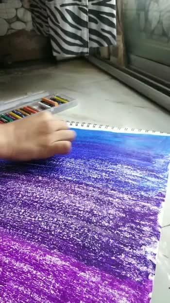Oil pastel Unicorn painting
