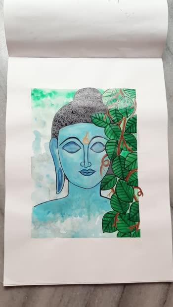buddha painting #roposo #indian #viral #supportme #followme #likes4likes #acrylicpainting