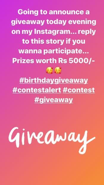 Follow me on Insta: hcpkanika #giveaway #contestalert #giveawayalert #birthdaygiveaway