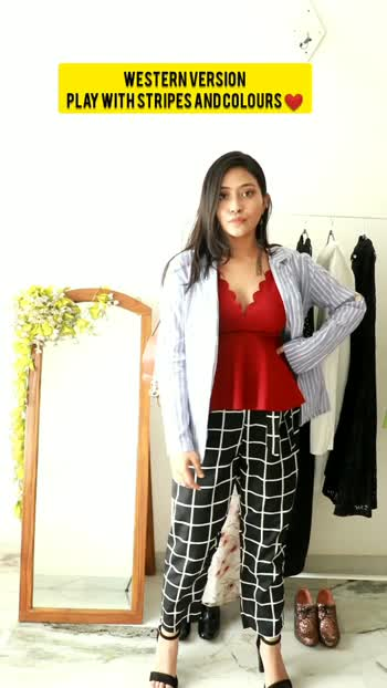 How to wear one Striped Jacket in two ways ❤ #fashionquotient #risingstar #fashionquotient #fashiongram #fashionblogger #vloggerlifestyle #vloggers #outfitoftheday #outfitinspiration