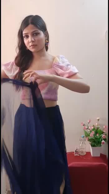 Saree Styles #sareefashion #sareestyling #sareelove #roposostar #risingstar