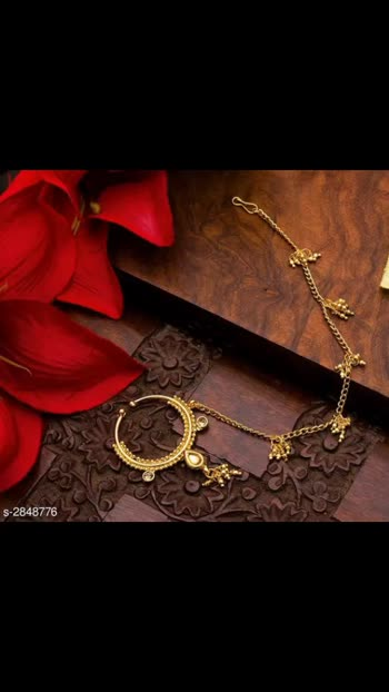400 Only Women's Alloy Gold Plated Nosepins Material: Alloy Nathani Size: Free Size Description: It Has 1 Piece of Women's Nosepin Work: Embellished