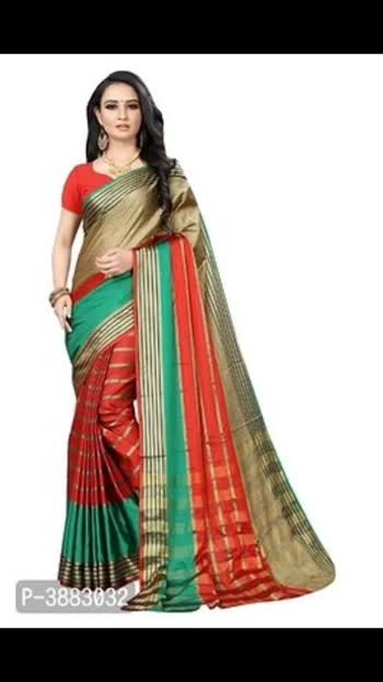 Aura Cotton Silk Multicoloured Woven Design Sarees  Aura Cotton Silk Multicoloured Woven Design Sarees with blouse Piece  *Color*: Multicoloured  *Fabric*: Cotton Silk  *Type*: Saree with Blouse piece  *Style*: Woven Design  *Saree Length*: 5.5 (in metres)  *Blouse Length*: 0.8 (in metres)  *Delivery*: Within 10-12 business days  *Returns*:  Within 7 days of delivery. No questions asked  ⚡⚡ Hurry, 8 units available only     Hi, check out this collection available at best price for you.💰💰 If you want to buy any product, message me