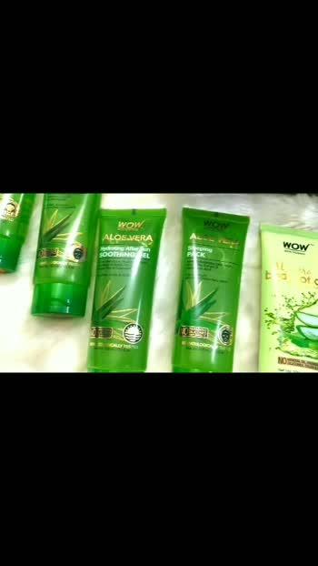 Wow Skin Science Aloe Vera Range.. #wowskinscience #youtuber #neemascorner