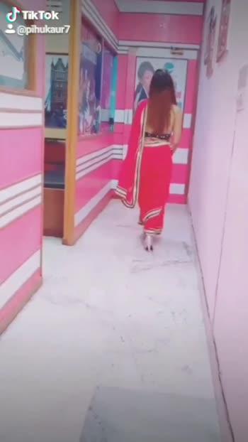 Red saree... #roposo
