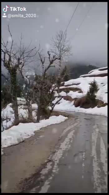 Q soch na hay jana kaha....jaye wohi le jaye jaha 💚💚🗻🗻##travel #snowing #india