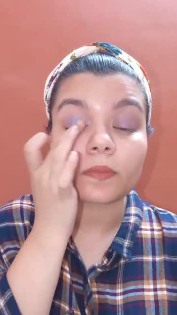 Blue Purple Holographic Eyes ❤️  #makeupartist #makeup #blueeyes #muaindia