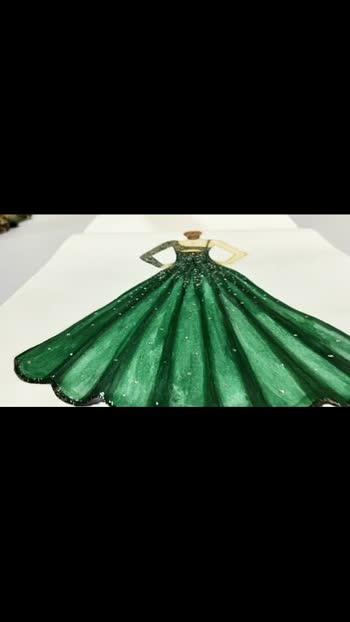 #fashion #illustration #designerdress #workfromhome