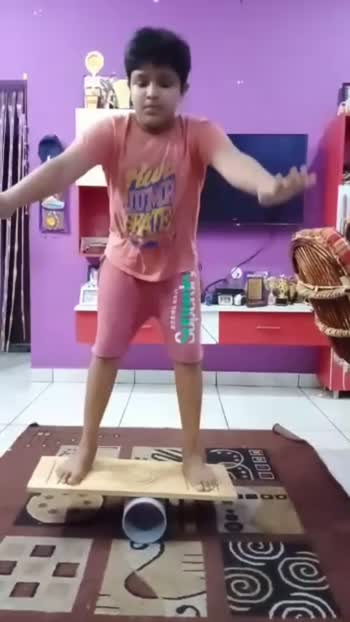 Most squats on balance board in one minute by sajan from GOKULNATH UNIQUE TALENT ACADEMY #wow #healthy #exerciseeveryday #roposostars #tamil #balancingact