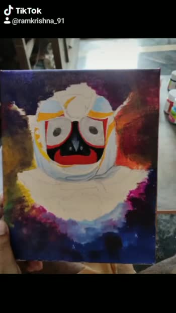 #canvasart #jagannath_rath_yatra #jagannath #artworld #puri #india #roposoworld