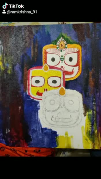 #canvasart #artworld#acrylicpainting #jagannath #odiaroposo#roposoindia