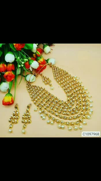 *Catalog Name:* Flattering Kudan  Jewellery Sets Vol - 7 ⚡⚡ Quantity: Only 7 units available⚡⚡ *Details:* Description: It has 1 Piece of Necklace, 1 Pair of Earring, 1 Mang Tika  Material: Alloy Size: One Size  Work:  Beads , Kudan Designs: 5 💥 *FREE Shipping*  💥 *FREE COD* 💥 *FREE Return & 100% Refund* 🚚 *Delivery:* Within 7 days Buy online: https://www.myownshop.in/Smartshop224/catalogues/flattering-kudan--jewellery-sets-vol---7/6131431353?afr700 #jwellerybox #jwellerycollection #jwellarylove #jwelleries #fashion ##fashionblogger #fashionjewellery #tranding #entertainment #style