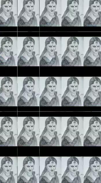 Portrait of debasena #india #drawing #portrait