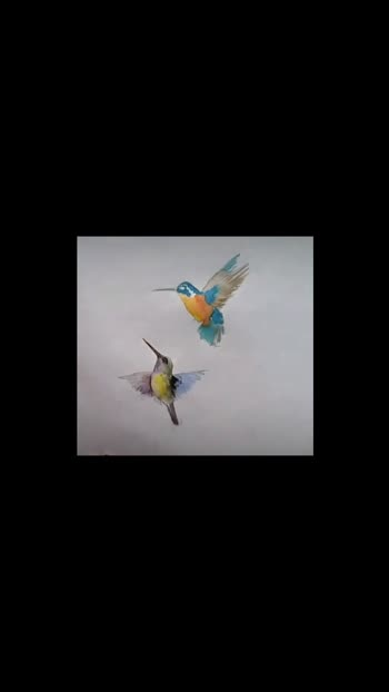 watercolor hummingbirds...