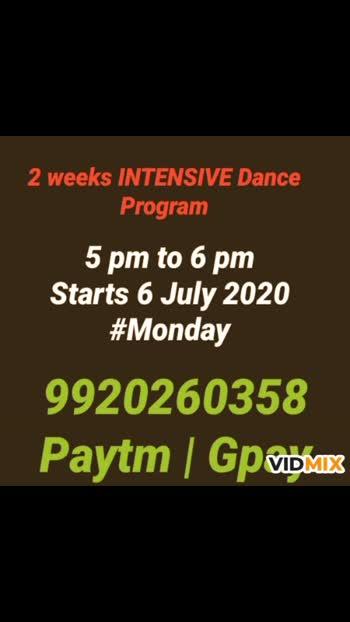 2 weeks intensive dance program #99202 60358 #dancefit #riyaevents