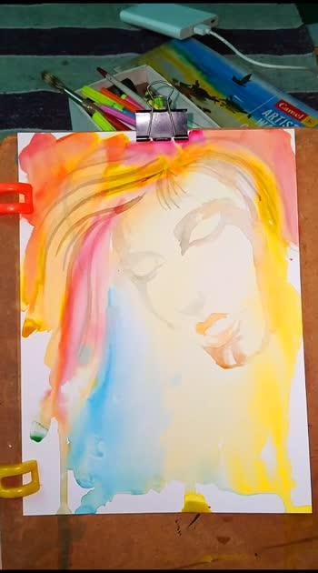 face painting..... #portrait #painting