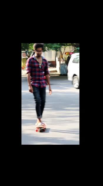 Skateboarder ....  skateboarding...