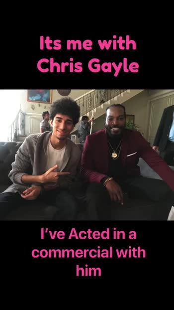 #actor #chrisgayle #ayushnarang #roposolove #acting #commercial #advertisement