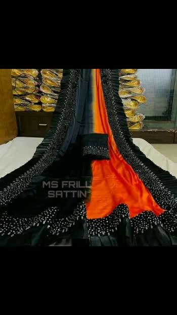 Trendy Sensational Sarees  Saree Fabric: Satin Blouse: Separate Blouse Piece Blouse Fabric: Banglori Silk Pattern: Embellished Blouse Pattern: Embellished Multipack: Single Sizes:  Free Size (Saree Length Size: 5.5 m, Blouse Length Size: 0.8 m)  Dispatch: 2-3 Days