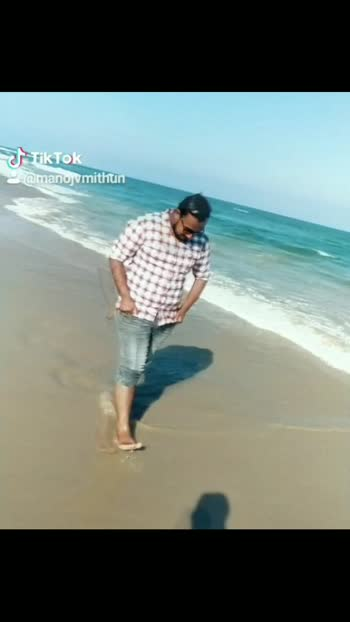 ✌😉 #tiktok-roposo #kannadigara_adda #beachbum #trendingvideo