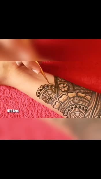 beautiful mehandi design #mehandi design by Sunaina #sundar mehandi design #roposo