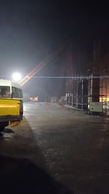 to night our company site havvy rain fall in Hyderabad Megha engineering infrastructure limited,
