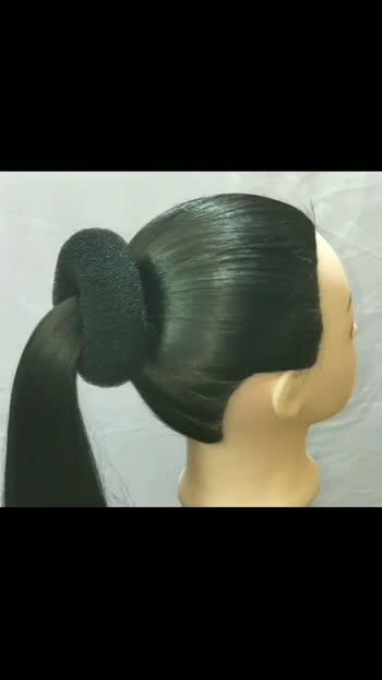 Saree juda hairstyle for girls❤ #hairstyle #Judahairstyle
