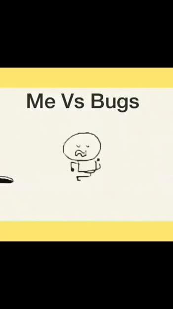 me vs bugs☹️😏