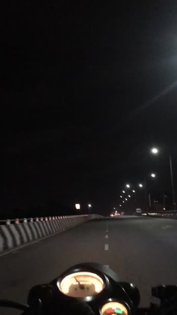 Night ride with my Royal Enfield classic 350cc