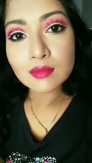 watermelon inspired eyes  #lifeisacocktail #creativemakeup #indianmua