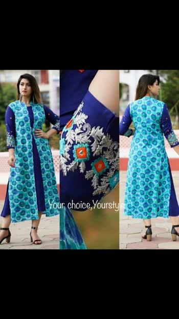😍Price=1750/-😍 online shopping krne ke liye mujhe follow kre mai aapko daily New products ki information deti rhungi 👍Reyon febric  2 pes kurti  Wid heavy embroidery work And zarri work  Size m to xxl  😍1750/-😍 WR #kurti #fashion #kurtis #saree #onlineshopping #designerkurti #kurtilover #indianwear #ethnicwear #kurta #lehenga #dress #kurtidress #cottonkurti #cotton #indianfashion #salwarsuit #dresses #style #kurtiplazo #partywear #suits #ethnic #longkurti #kurties #salwarkameez #instafashion #kurticollection #india #bhfyp#roposo#fyp#foruou#forypupage#oposoindia#oposo official#oposolover#likeplz#followplz#followme#