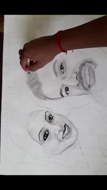couple#goaloflife#workinprogress#potrait#work-keepsupporting#dosto🥰