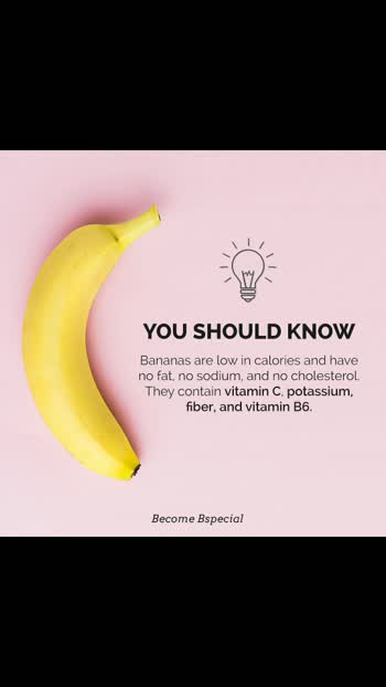 Bananas are low in calories and have a non existent amount of fat and sodium.  Bananas have twice as many carbohydrates, 5 times as much Vitamin A and iron, and 3 times as much phosphorus as apples. Bananas are also rich in potassium, fiber and natural sugars.  The vitamin C, potassium and other vitamins and minerals bananas contain help to maintain overall good health.  Because the fruit's sugar content is balanced with fiber, it helps maintain a healthy blood glucose level. Even people with diabetes can enjoy a banana, according to the American Diabetes Association. . . . . #bananabread #banana #nutritionist  #healthylifestyles  #healthyfoodie  #healthyliving #nofatdiet #weightloss #weightlossjourney #transformation #weightgain #skincaretreatment  #beautytips #protienshake #protien #yoga #yogainspiration #yogapractice #workoutroutine #detox #youtube #blog #fact #facemask #diyroposo  #musclebuildingmistakes  #fatlossdiet #travelling #roposostars  #risingstar