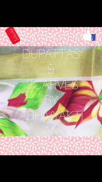Beautiful Hand painted dupattas