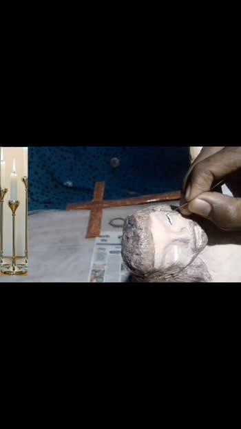 #thegreat jesus #jesusloves #jesuslovesyou #jesuschrist #jesus #prabhu issue #yeshuMasiha #jesusstatue#creativeart #creativeartist #papercraft #paperart