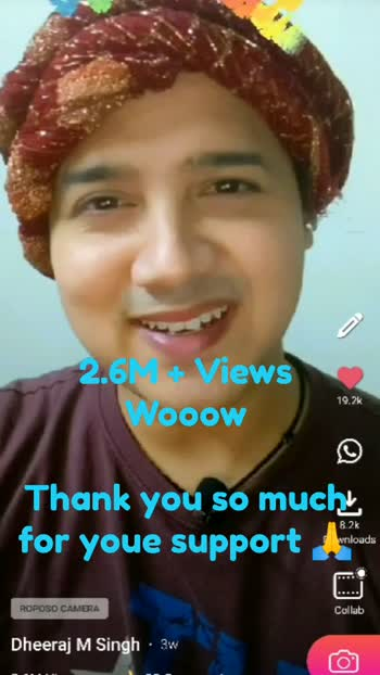 2.6M + Views and 4K followers . . . Thank you for you love and support, Love you all #roposostar #roposolove #thankyouroposo #thankyoufollowers #thankyouuniverse