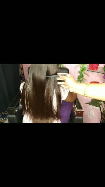 hair straight-at home#hairstraightening #hairstyleing #myvideo #roposostars #dankunigirl #hooghly_no1vairal_video