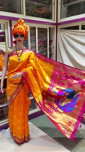 #paithaniforwedding #paithanilovers #paithanisarees #paithani  #sareefashion  #sareelovers  #fashion  #weddingwear  #sareeblousedesigns  #womenswear #women-branded-shopping  #women-clothing