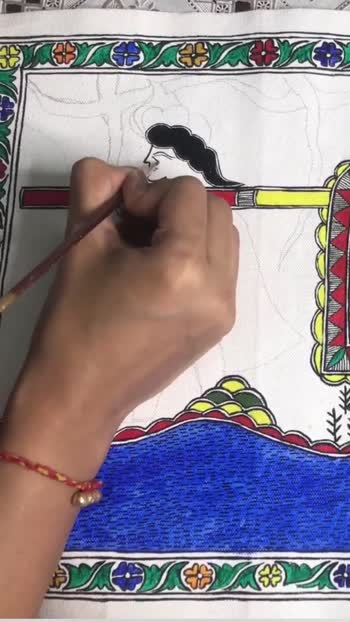 Madhubani Art 🥀 #indiaart #indiaartist #fampriya