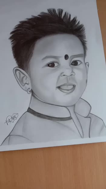 best Friend son ...little star ❤️kunal 😍😘❤️ 💕🤗 My blessings and love are with you forever my pilu 😇 *MY SKETCH WORK* #Love #artwork #sketch #artlovers #sketches #instaart #pencilart #sketchart #portraitart #sketchwork #sketchskill #mood #confidence