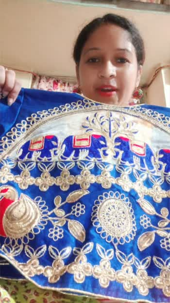 #partywear  #blouse  #royalblue